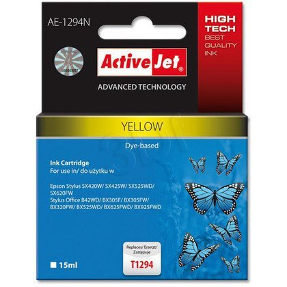 ActiveJet AE-1294N (AE-1294) tusz yellow pasuje do drukarki Epson (zamiennik T1294)