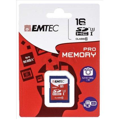 Emtec SDHC ECMSD16GHC10PR 16GB Class 10,UHS Class U3