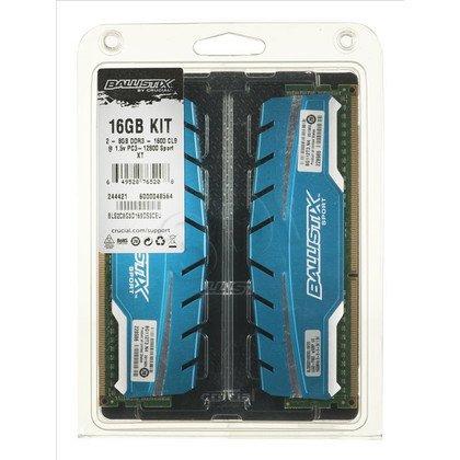 Crucial Ballistix Sport BLS2C8G3D169DS3CEU DDR3 UDIMM 16GB 1600MT/s (2x8GB)
