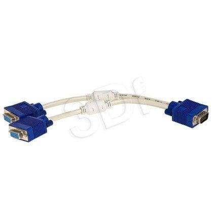 AKYGA ADAPTER VGA 15-PIN / 2X VGA 15-PIN 25CM AK-AD-20