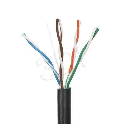 ALANTEC kabel UTP kat.5e PE KIU5OUTS100 100m ZEWNĘTRZNY SUCHY 4PR czarny