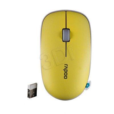 RAPOO Mysz bezprzewodowa optyczna 3500P 1000dpi żółta