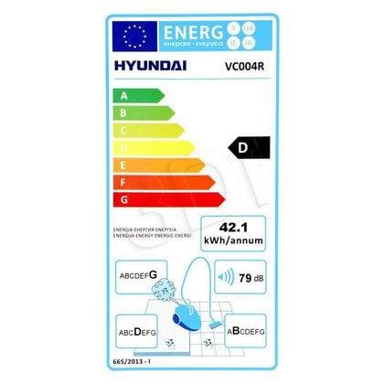 Odkurzacz Hyundai VC 004 R (z workiem 1200W czerwono-szary)