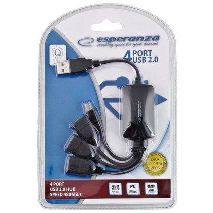 ESPERANZA HUB USB 2.0 4-PORTY EA114