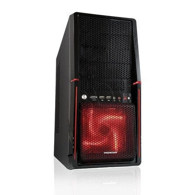OBUDOWA MODECOM ALIEN BLACK RED LED FAN