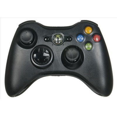 Kontroler Microsoft Xbox 360 bezprzewodowy czarny