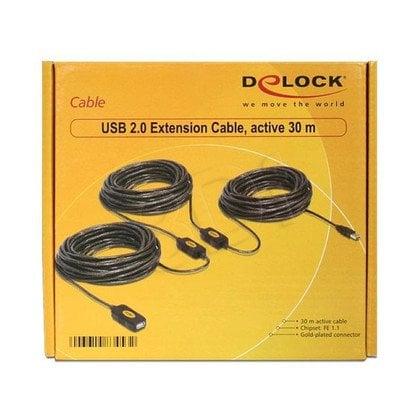 DELOCK PRZEDŁUŻACZ KABLA USB 2.0 30M AKTYWNY CZARNY