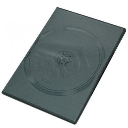 PUDEŁKO NA DVD BLACK 1 DISC 7mm SLIM 10SZT