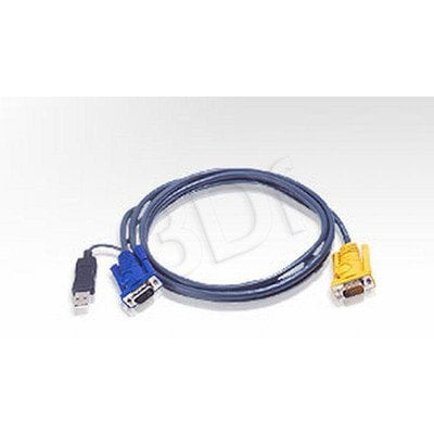 Aten kabel KVM 2L-5206UP 6m Kabel HD15 - SVGA + mysz + klaw.USB czarny