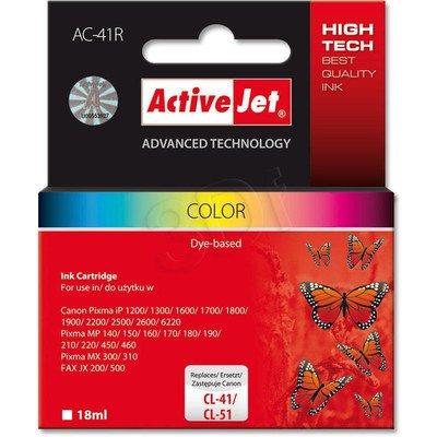 ActiveJet AC-41R tusz kolorowy do drukarki Canon (zamiennik Canon CL-41, Canon CL-51)