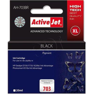 ActiveJet AH-703BR (AH-C87) tusz czarny do drukarki HP (zamiennik HP 703 CD887AE)