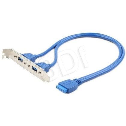 GEMBIRD GNIAZDO USB 3.0 2X NA ŚLEDZIU