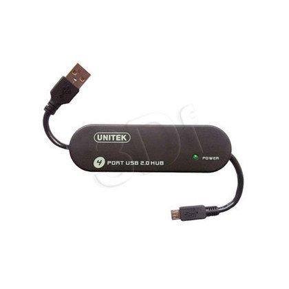 UNITEK HUB 3X USB 2.0 + ŁADOWANIE MICROUSB Y-2144