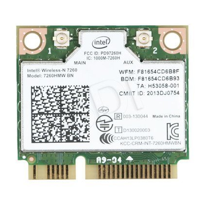 KARTA WI-FI INTEL WIRELESS-N 7260 2x2 BGN+BT HMC