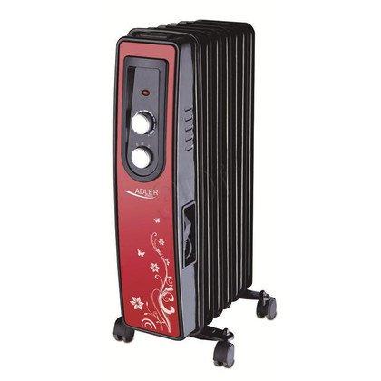 Grzejnik olejowy ADLER AD 7801 (1500W/ czerwono- czarny)