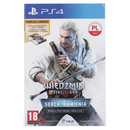 Gra PS4 Wiedzmin 3 Serca z Kamienia dodatek