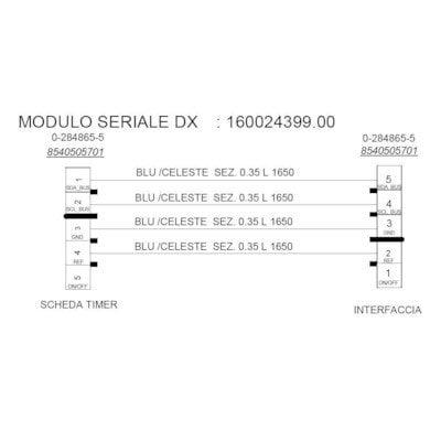 Okablowanie zmywarki DEA602 moduł-dozownik (C00281285)