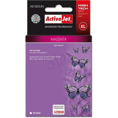 ActiveJet AB-985MN (AB-985M) tusz Magenta do drukarki Brother (zamiennik LC985M)