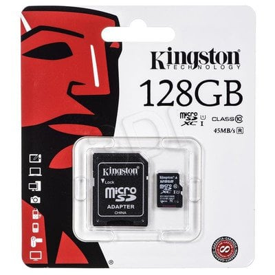 Kingston micro SDXC SDC10G2/128GB 128GB Class 10 + ADAPTER microSD-SD