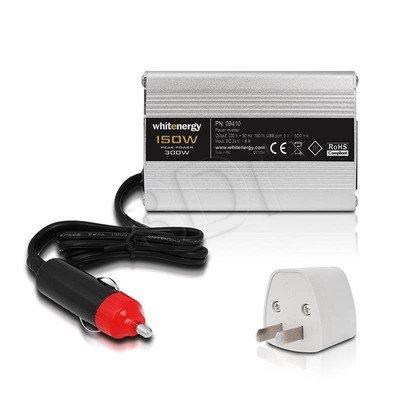WHITENERGY PRZETWORNICA SAMOCHODOWA DC 24V AC 230V CIĄGŁA MOC:: 150W USB