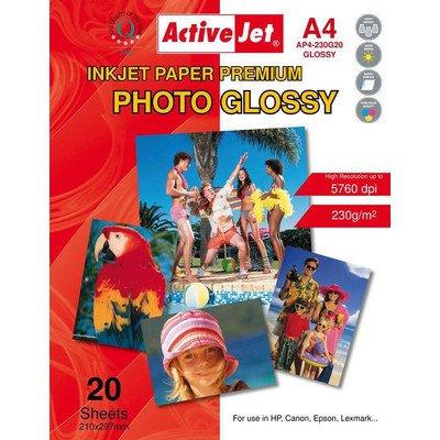 AP4-230G20 Activejet Papier Foto błyszczący A4 20szt 230g