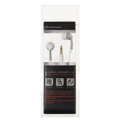 Słuchawki douszne z mikrofonem LENOVO P165 (Biało-szare)