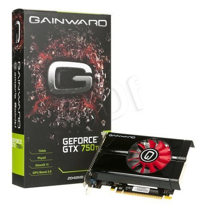 GAINWARD GeForce GTX 750Ti 2048MB DDR5/128bit DVI/HDMI PCI-E (1163/5500)