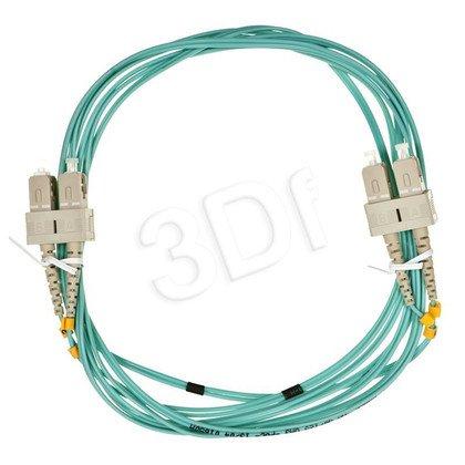 ALANTEC patchcord światłowodowy MM LSOH 3m OM3 SC-SC duplex 50/125 turkusowy