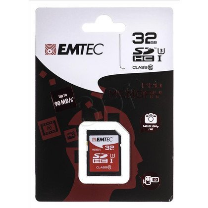 Emtec SDHC ECMSD32GHC10PR 32GB Class 10,UHS Class U3