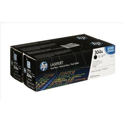HP Toner HP304Ax2=CC530AD, Zestaw 2xBk, 2xCC530A