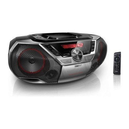 Boombox Philips AZ700T/12 Czarno-szaro-czerwony