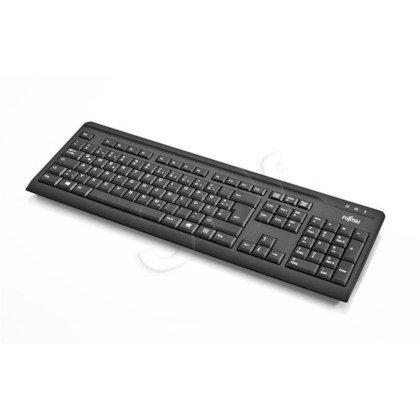 FUJITSU Keyboard 410 PS2 BLACK PL, SLIM value Keyboard black with polish layout, PS2