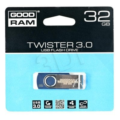 Goodram Flashdrive TWISTER 32GB USB 3.0 Niebieski