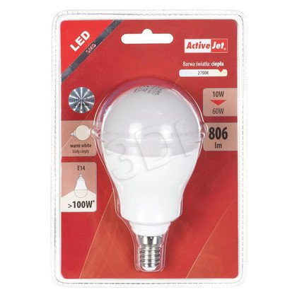 LED SMD AJE-HS2814W A60 806lm 10W E14 barwa ciepła