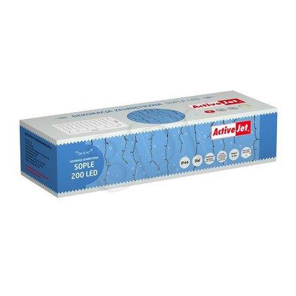 Lampki choinkowe SOPLE LED AJE-ICE200/4,7M/WW/BLINK/MUL/IP44