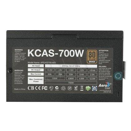 ZASILACZ AEROCOOL KCAS-700 (700W) 80+ BRONZE