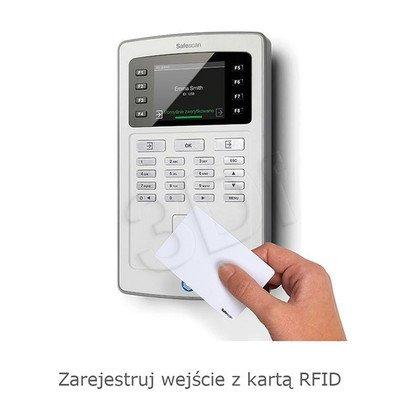 SAFESCAN SYSTEM REJESTRACJI CZASU PRACY TA-8015 CZYTNIK KART RFID/KOD PIN/KONTROLA LAN I WIFI/EKRAN TFT/KOLOR SZARY