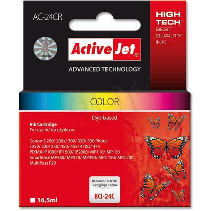 ActiveJet AC-24CR (ACR-24C) tusz kolorowy do drukarki Canon (zamiennik Canon BCI-24C)
