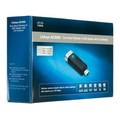 LINKSYS AE3000-EE Karta USB WiFi 802.11n D-Band