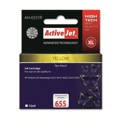 ActiveJet AH-655YR tusz żółty do drukarki HP (zamiennik HP 655 CZ112AE) Premium