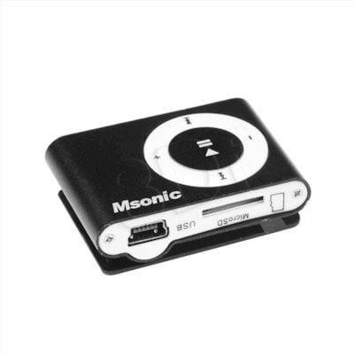 MSONIC ODTWARZACZ MP3 Z CZYTNIKIEM KART, SŁUCHAWKI, KABEL MINIUSB, ALUMINIUM MM3610K CZARNY