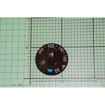 Pokrętło temperatury brązowe wskaźnik zielona kropka 50-250oC (8005561)