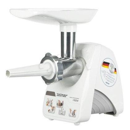 Maszynka do mielenia Zelmer ZMM1284S (MM1200.84) (650W Biało-szary)