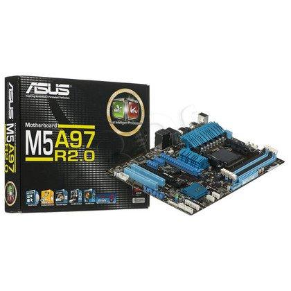 ASUS M5A97 R2.0 AMD 970 Socket AM3+ (2xPCX/DZW/GLAN/SATA3/USB3/RAID/DDR3/CROSSFIRE)