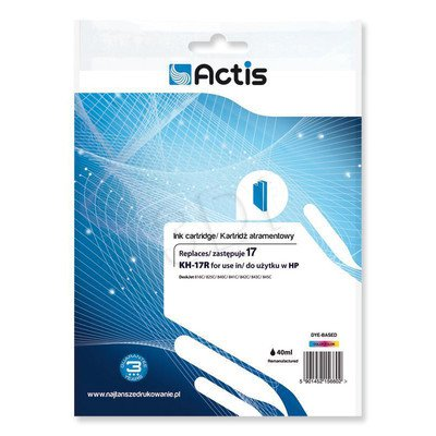 Actis KH-17R tusz trójkolorowy do drukarki HP (zamiennik HP 17 C6625A) Standard