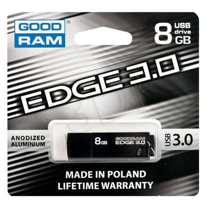 GOODRAM FLASHDRIVE 8GB USB 3.0 EDGE BLACK