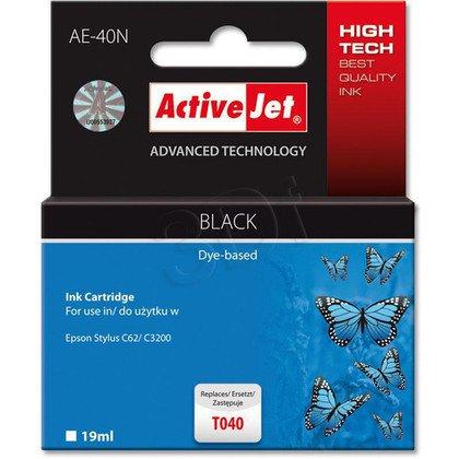 ActiveJet AE-40N (AE-40) tusz czarny pasuje do drukarki Epson (zamiennik T040)