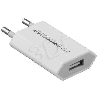 ESPERANZA ADAPTER/ŁADOWARKA SIECIOWA USB 0,8A BIAŁA EZ120W