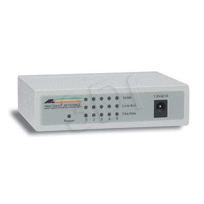 Allied Telesis Unmanaged (AT-FS705LE) 5x10/100Mbps Desktop Switch, zew. zasilacz