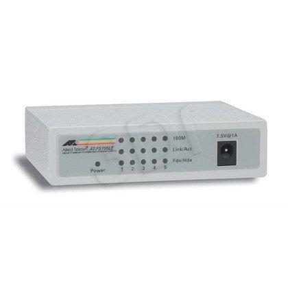 Allied Telesis Unmanaged (AT-FS705LE) 5x10/100Mbps Desktop Switch, zew. zasilacz